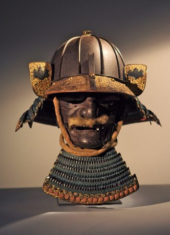 Heavy 8 plate samurai helmet and mask
