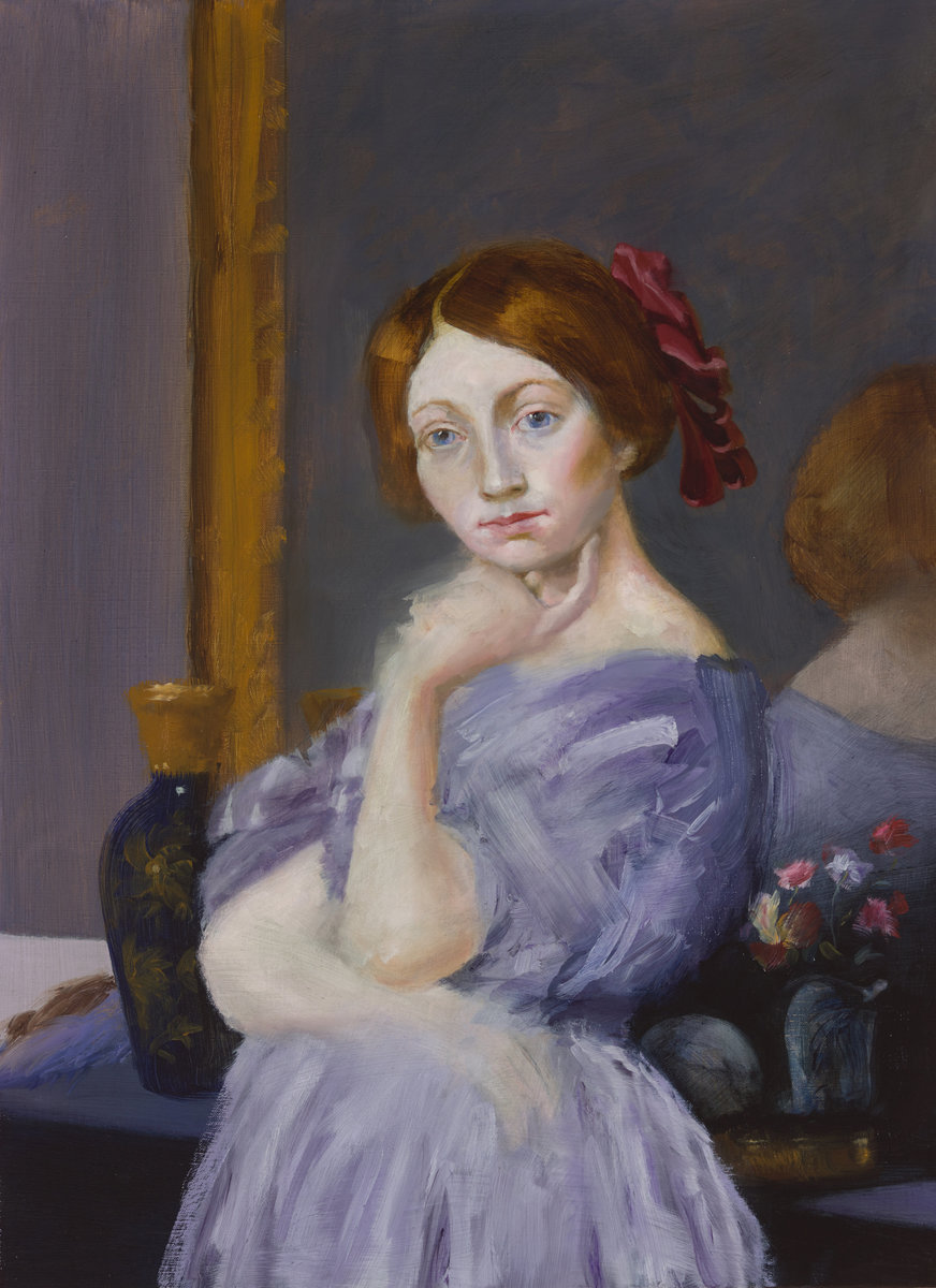 The Red Ribbon (after Ingres)